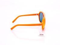 occhiali da sole unisex arancio con montatura a mascherina e lenti monocromatiche