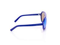 occhiali da sole unisex montatura in acetato blu con lenti polarizzate
