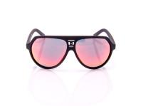 occhiale da sole uomo disquared montatura in acetato nero e lenti rosa