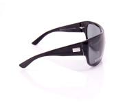 occhiali da sole unisex gucci nero montatura a mascherina scura