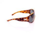 occhiale da sole donna color animalier montatura a mascherina e lenti multifocali