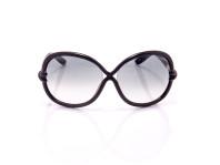 occhiale da sole donna tom ford nero montatura a fiocco lenti chiare tonde