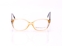 occhiale da vista donna montatura metallo giallo e verde