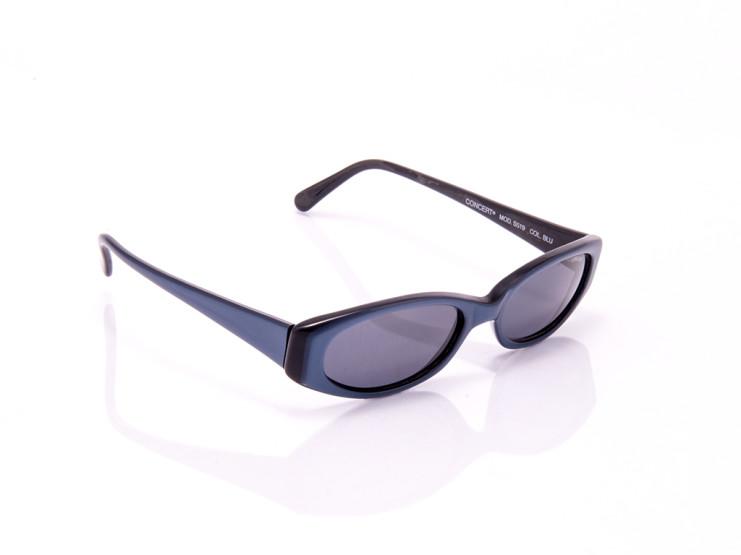 occhiali da sole donna concert blu lenti strette montatura opaca