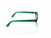occhiali da sole donna vogue mezza montatura colore verde e nero