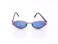 occhiale da uomo lenti blu montatura sottile in acciaio
